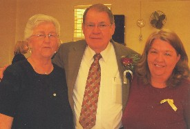 Jennie Cunningham, Rev. Hoyt Allen and Sue Griffith