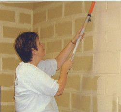 Marsha painting front office